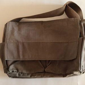 J Crew canvas/cotton messenger bag